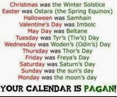 your religion is pagan