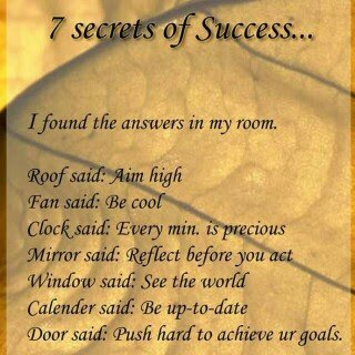 7 secrets of success