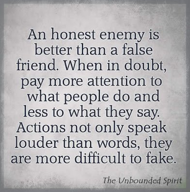 action speaks louder than word