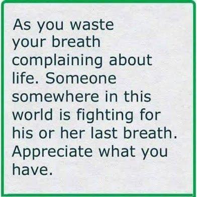 appreciate what you have3