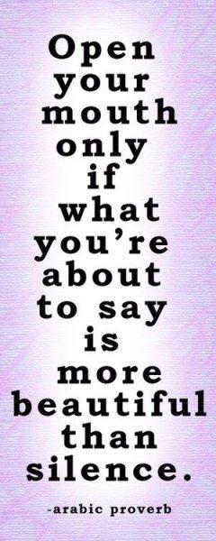 arabic proverb on silence