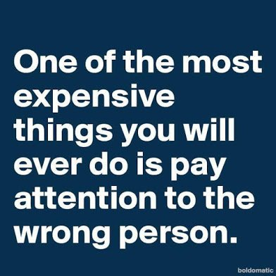 attention to wrong people