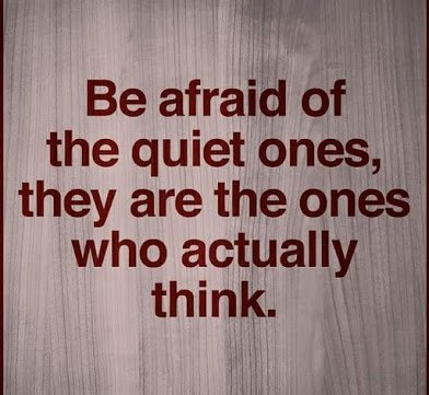be afraid of the quiet ones