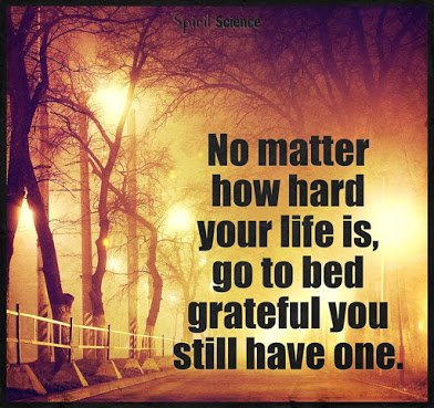 be grateful for life