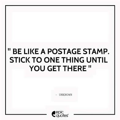 be like a postage stamp
