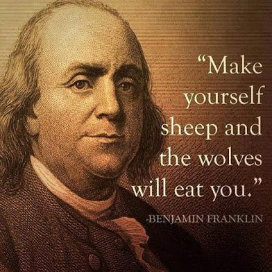 benjamin franklin make yourself sheep