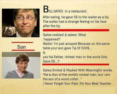 bill gates on tipping