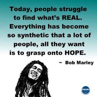 bob marley on hope