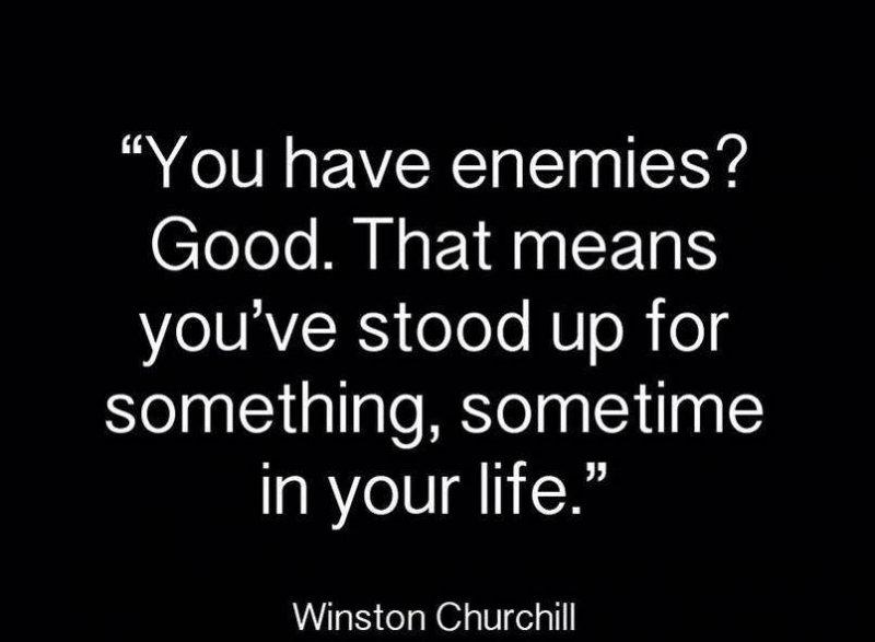 churchill on enemies