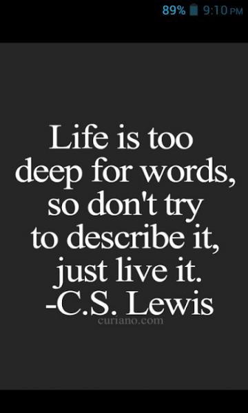 cs lewis on life