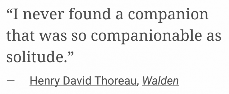 david thoreau on solitude