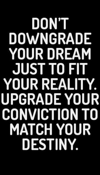 dont downgrade your dream