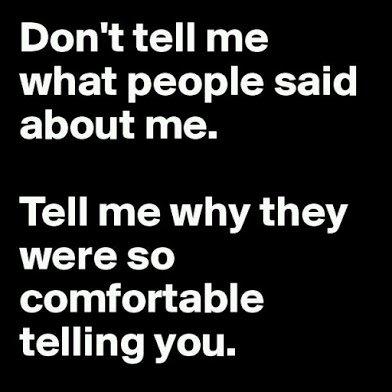 dont tell me gossip