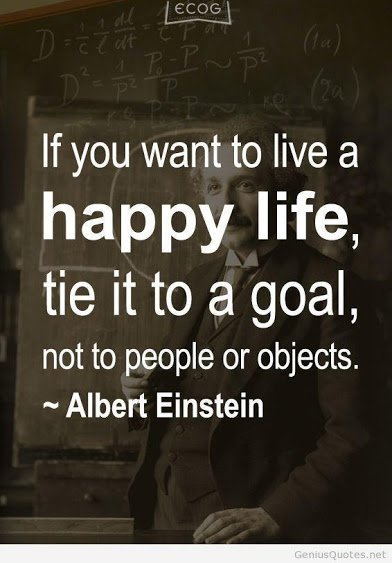 einstein on leading a happy life