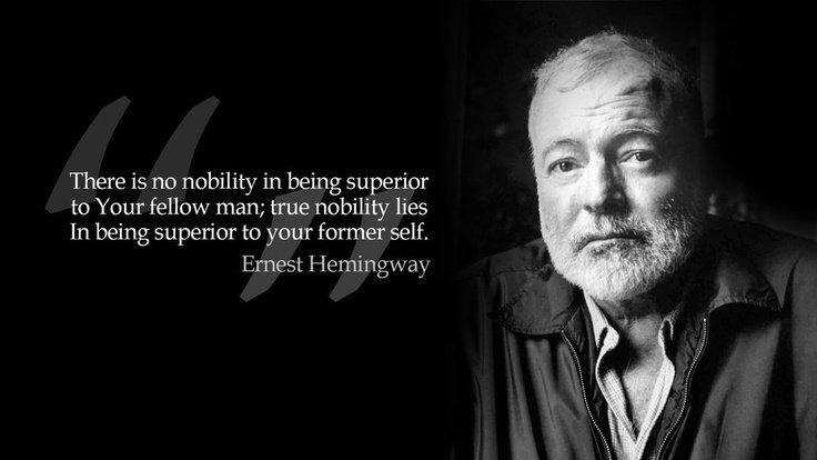 ernest hemingway on nobility