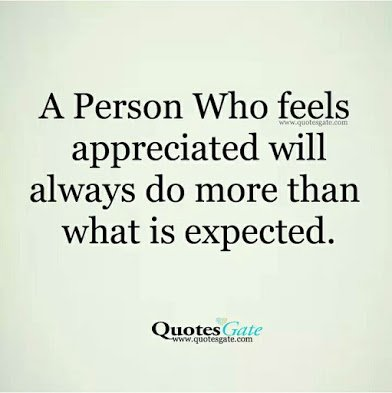 feeling appreciated