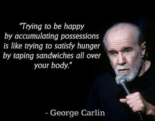 george carlin on happiness