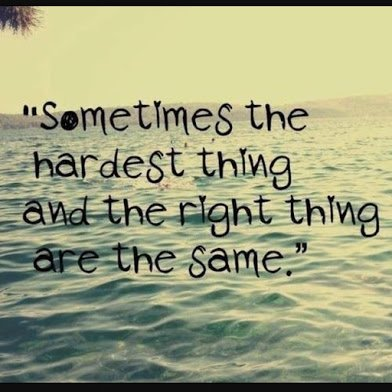 hard and right things