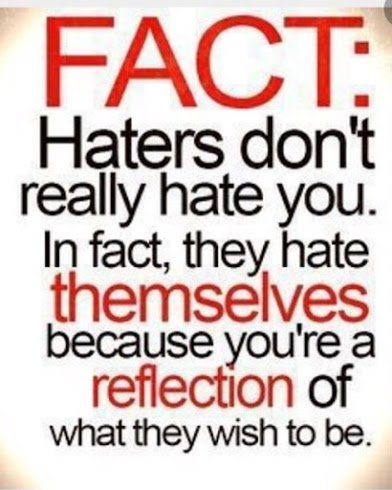 haters hate themselves