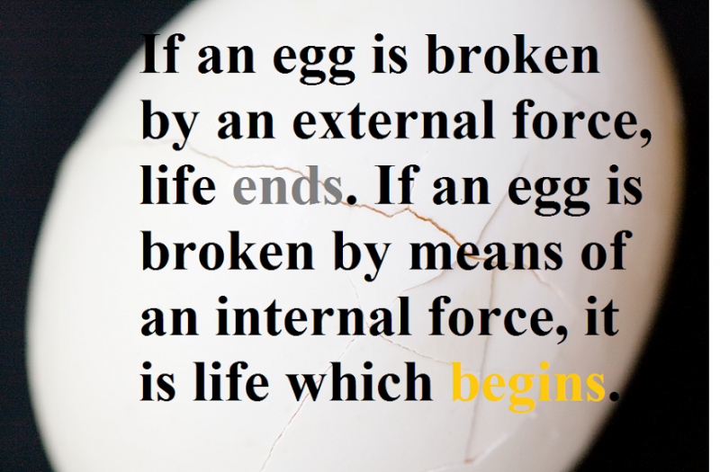 how egg is broken matters
