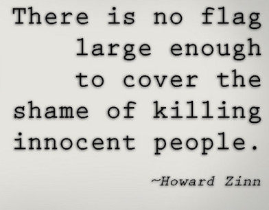 howard zinn on flags and killings