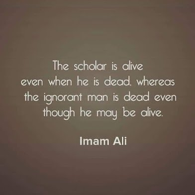 imam ali on scholarship