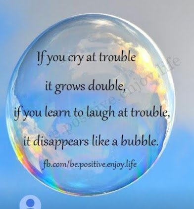 laugh at trouble