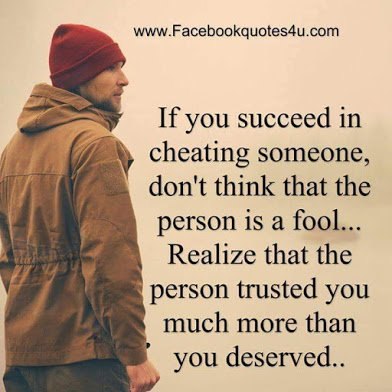 on cheating