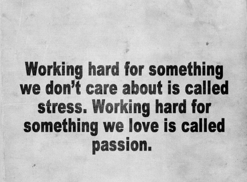 passion versus stress