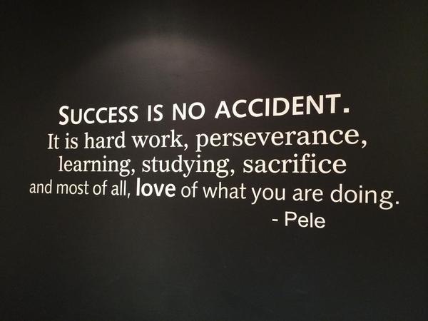 pele on success