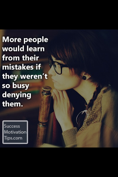 people deny their mistakes