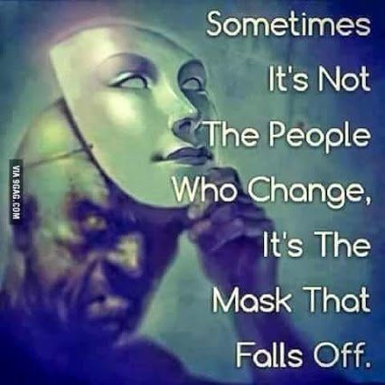 people dont change mask just come off