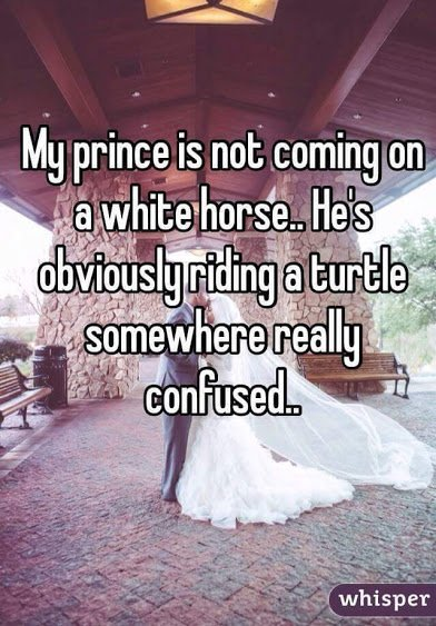 prince not coming on white horse