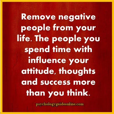 remove negative people from your life