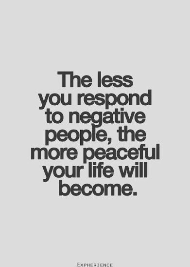 respond less to negative people