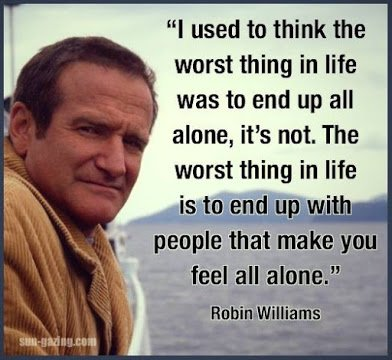 robin williams on being alone
