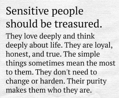 sensitive people