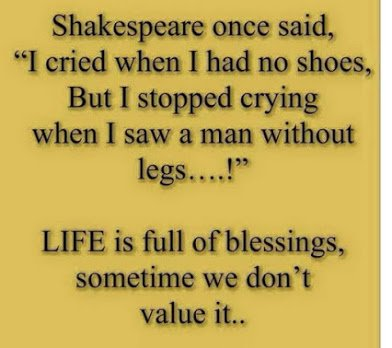 shakespeare on man without legs