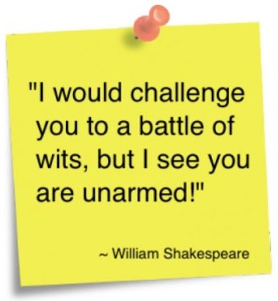 shakespeare on wit