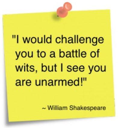 shakespeare on wit