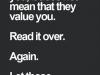 desire versus value