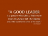 good leader share in the blame