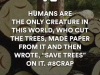 human beings and paper