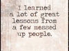 learned from messed up people