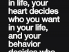 you decide who stays in your mind