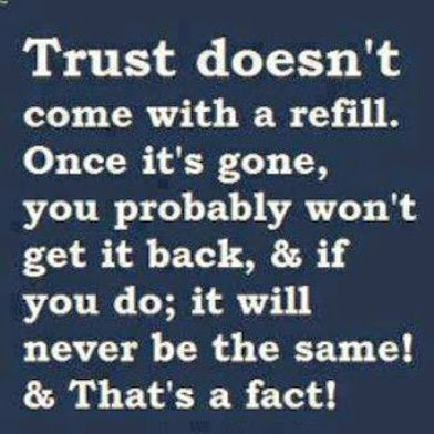 trust doesnt come with arefill