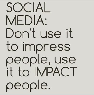 use social media to impact not impress people