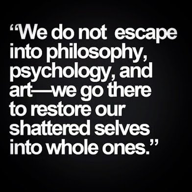 we dot not escape into philosophy