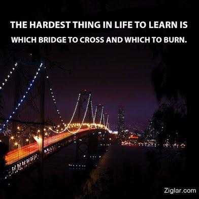 which bridge to burn or cross2