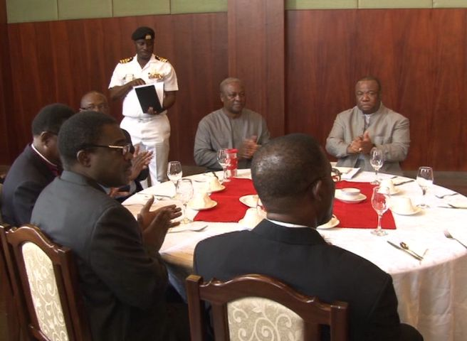 Prez mahama andClergy
